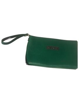 Leather Clutch Bag by Moschino Love