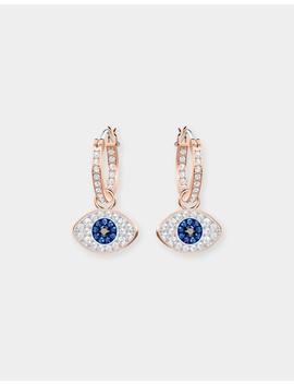 Duo Evil Eye Hoop Earrings by Swarovski