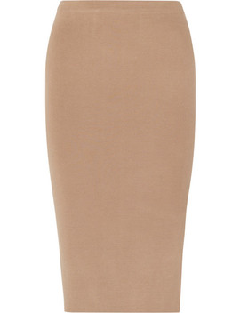 Stretch Silk Blend Midi Skirt by Joseph