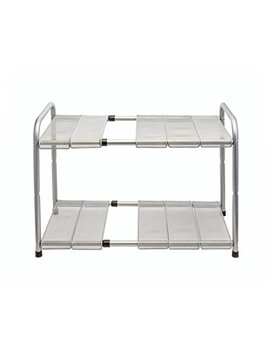 Venoly Home   Under Sink 2 Tier Expandable Shelf Organizer Rack, Silver   Expands From 18 Inches To 30 Inches by Venoly