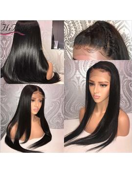 Straight 13x6 Lace Front Human Hair Wigs With Baby Hair For Black Women Deep Parting Remy Hair Glueless Lace Front Wig Pre Plucked Hibaby Hair With... by Hibaby