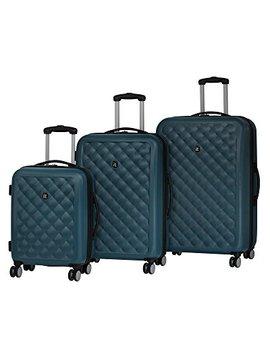 It Luggage Cushion Lux 3 Piece Luggage Set Hardside 8 Wheel Expandable Spinner, Legion Blue by It Luggage