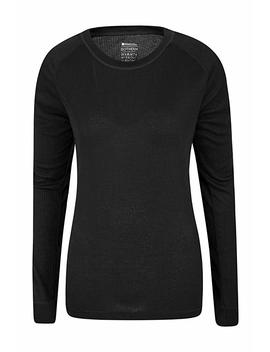 Mountain Warehouse Talus Womens Long Sleeve Crew Neck Thermal Undershirt Long Sleeve Top Thermal Underwear Ski Snowboard by