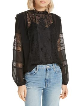 Concesa Lace & Chiffon Blouse by Joie