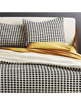 Estela Black And White Full/Queen Duvet Cover by Crate&Barrel