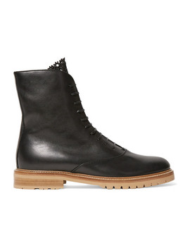 Ruben Leather Combat Boots by Gabriela Hearst