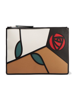 Roses Patchwork Leather Pouch by Loewe