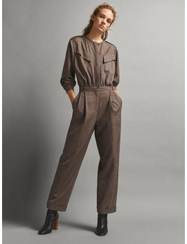 Limited Edition Check Wool Jumpsuit by Massimo Dutti