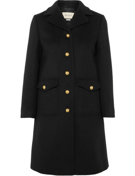 Embellished Wool Felt Coat by Gucci
