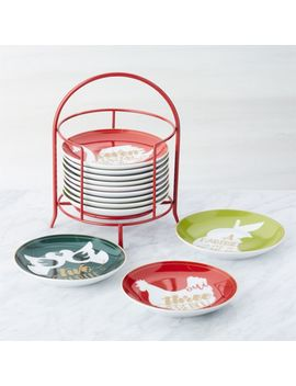Days Of Christmas Plates With Stand by Crate&Barrel