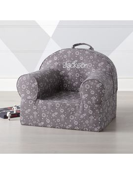 Large Dark Grey Outer Space Nod Chair by Crate&Barrel