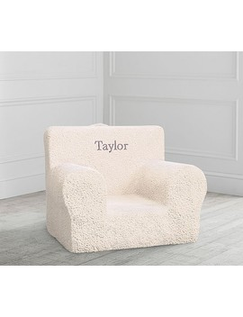 Cream Sherpa Anywhere Chair® by Pottery Barn Kids
