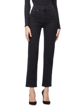 Twist Seam Crop Straight Leg Jeans by Good American