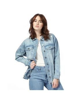 Noisy May   Light Blue Distressed Denim Jacket by Noisy May