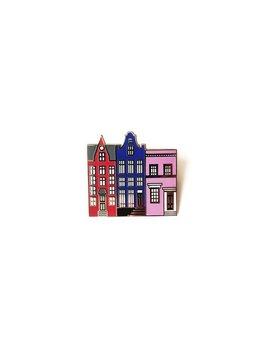 Three Houses   Enamel Pin by Etsy