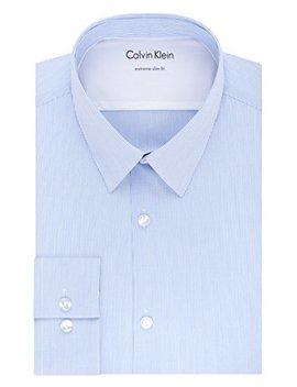 Calvin Klein Men's Thermal Stretch Xtreme Slim Fit Stripe Dress Shirt by Calvin+Klein