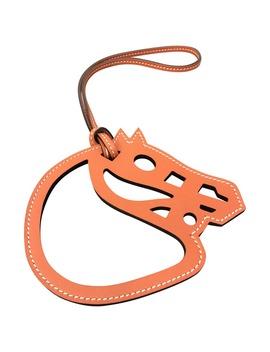 Paddock Leather Bag Charm by Hermès
