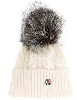 Pom Pom Beanie Hat by Moncler