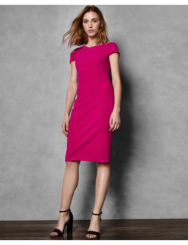 Asymmetric Neckline Dress by Ted Baker