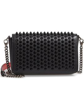 Zoompouch Spiked Leather Clutch by Christian Louboutin
