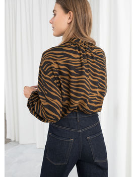 Zebra Print Button Up by & Other Stories