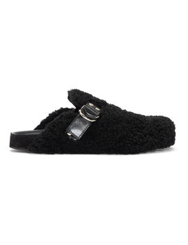 Black Shearling Murfee Slip On Loafers by Isabel Marant
