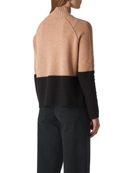 Colour Block Funnel Neck Knit by Whistles