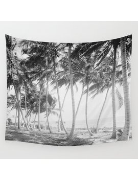 Black And White Florida Palm Trees Photograph (1915) Wall Tapestry by