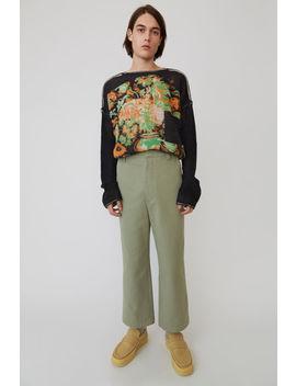 Cotton Trousers Steingrau by Acne Studios