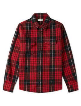 Saint Laurent Heavy Felt Wool Check Overshirt by End.