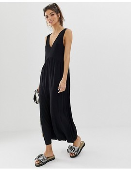 Asos Design Curved Smock Jumpsuit by Asos Design