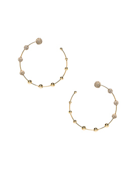 Pave Floating Ball Hoops by Rebecca Minkoff
