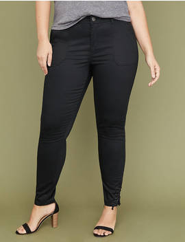 Utility Skinny Pant   Lace Up Ankle by Lane Bryant