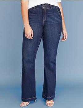 Tighter Tummy Essential Stretch Trouser Jean   Dark Wash by Lane Bryant