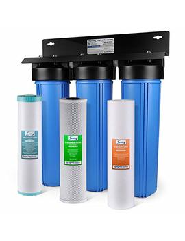 I Spring Wgb32 Bm 3 Stage Whole House Water Filtration System W/ 20 Inch Big Blue Sediment, Carbon Block, And Iron & Manganese Reducing Filter by I Spring