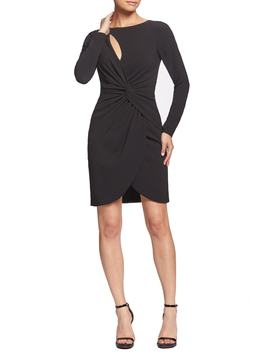Coby Twisted Faux Wrap Cocktail Dress by Dress The Population