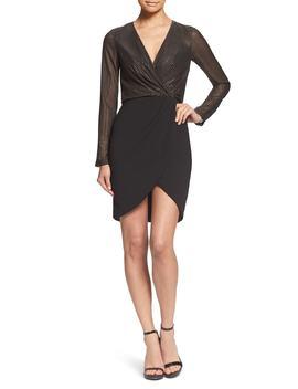 Miranda Studded Bodice Faux Wrap Cocktail Dress by Dress The Population