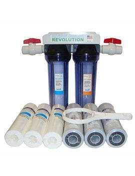 "Reverse Osmosis Revolution 3/4"" Port Dual Stage Whole House Water Filtration System With Sediment & Cto Filters by Reverse Osmosis Revolution"