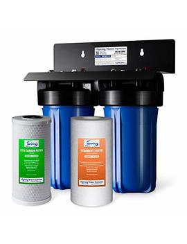 "I Spring Wgb21 B 2 Stage Whole House Water Filtration System W/ 4.5"" X 10"" Sediment And Carbon Block Filters by I Spring"