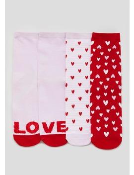 3 Pack Love Eyelash Ankle Socks by Matalan