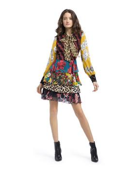 Dasha Tiered Midi Dress by Alice And Olivia