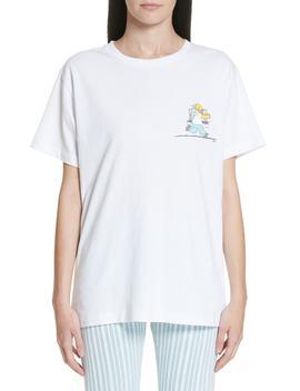 Homer & Bart Short Sleeve Skinny Tee by Off White