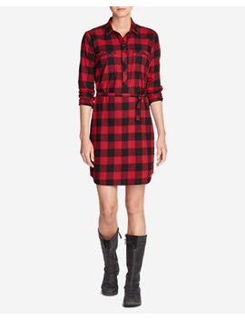 Women's Stine's Favorite Flannel Shirt Dress by Eddie Bauer
