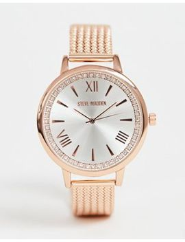Steve Madden Womens Rose Gold And Silver Watch by Asos Brand