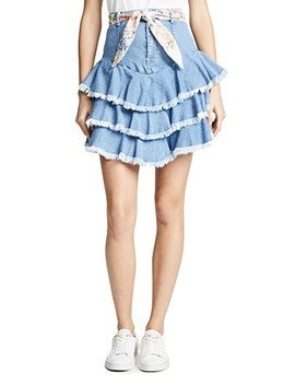 Bowie Ruffle Skirt by Zimmermann