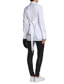 Lace Up Cotton Poplin Shirt by Helmut Lang