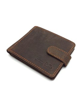 Rfid Blocking Protection Distressed Brown Genuine Leather Mens Wallet Coin Pocket Gift Boxed by Buono Pelle