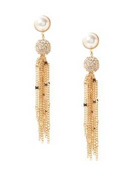 Delicate Pavé Ball Fringe Earring by Banana Repbulic