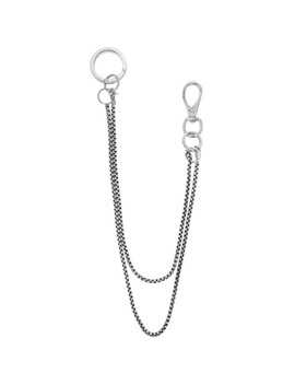 Silver Double Baby Boxer Wallet Chain by Martine Ali