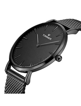 Tonnier Stainless Steel Slim Men/Women Watch Mesh Bracelet Watch by Tonnier